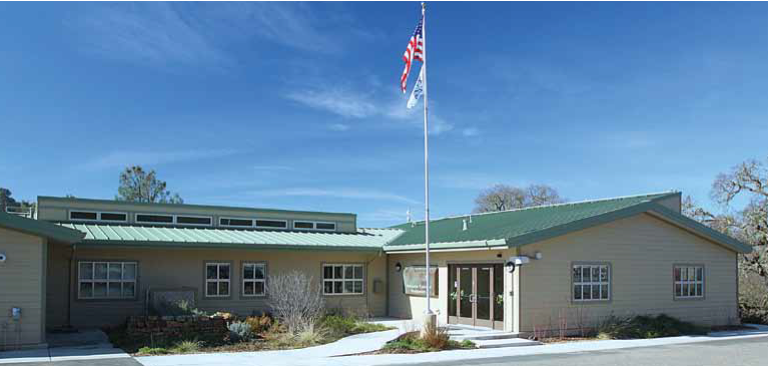 Exterior of Modular Building at EBMUD Mokelumne Ranger Headquarters