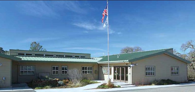Exterior of Modular Building at EBMUD Mokelumne Ranger Headquarters