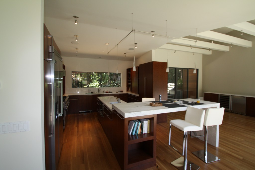 Ktichen and Dining Area of New Custom Home in Mill Valley CA