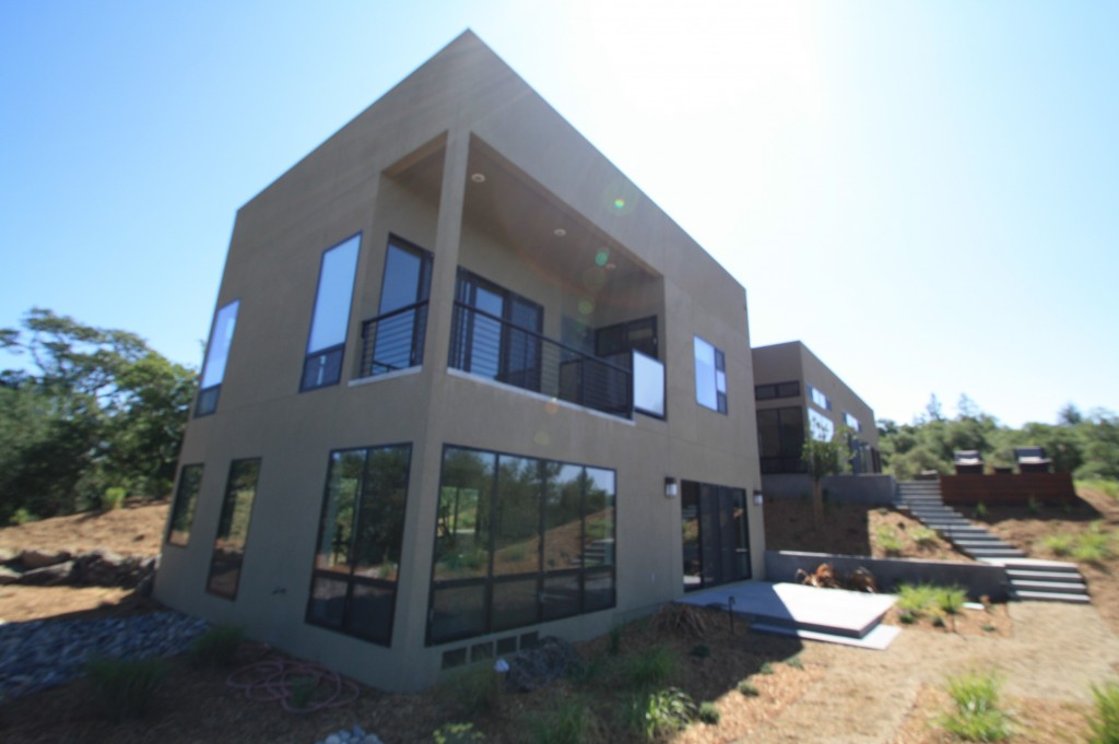 Exterior of Custom Built Home in Forestville CA