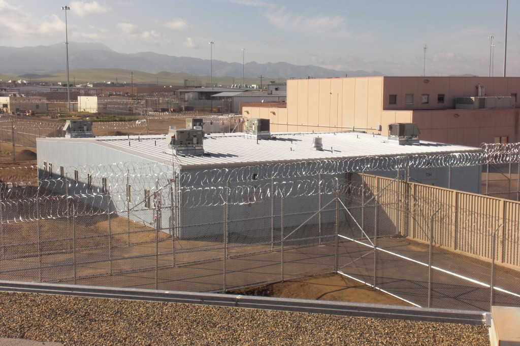 Exterior of Avenal State Prison Modular Health Center, Building B