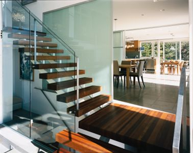 Custom Home Interior Stairs in Belvedere CA