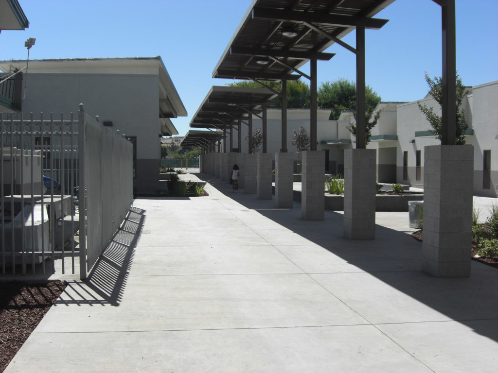 Evergreen Elementary School Walkway