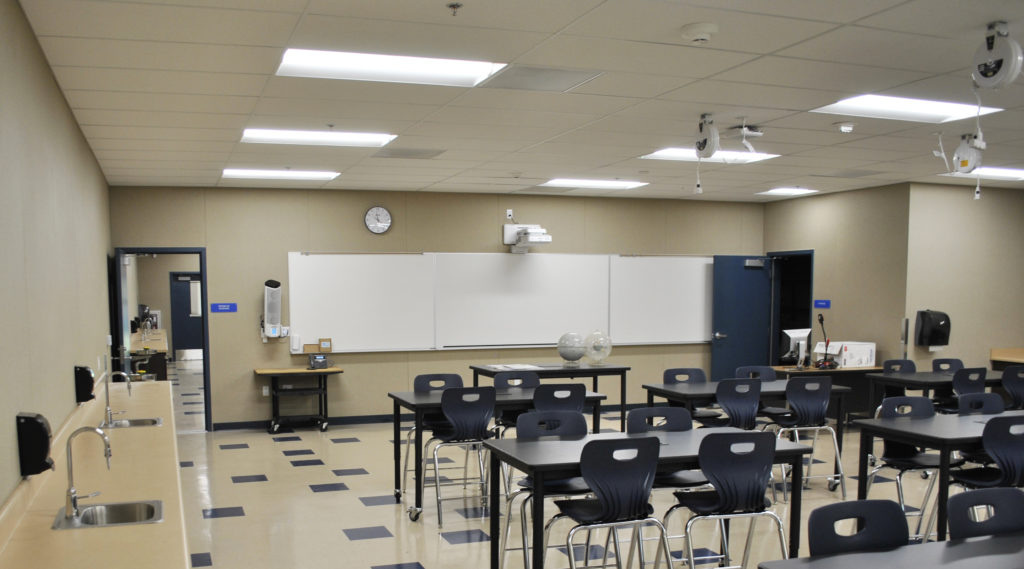 Edna Hill Middle School Science Classroom